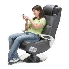 Adult Gaming Chair Gray Velvet Dining Chairs Girl Game Room Pedestal Video Wireless Rocker