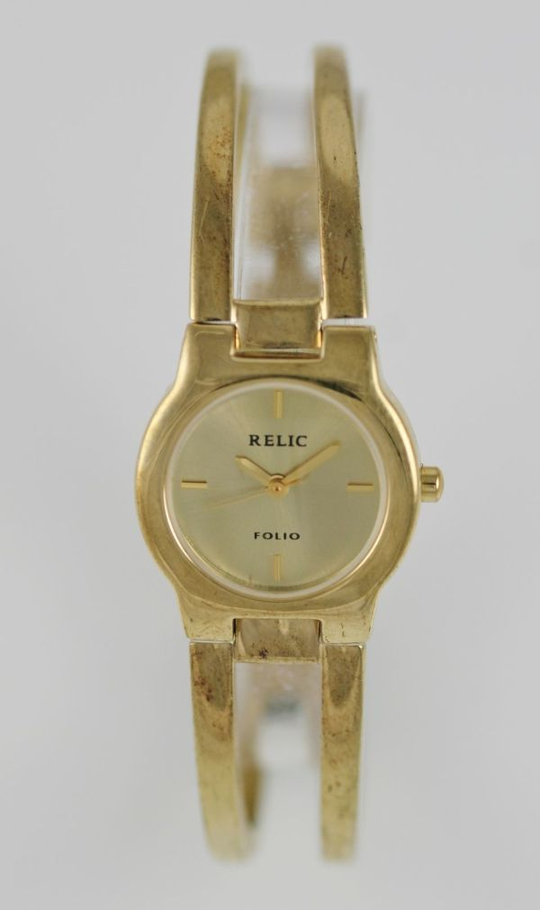Folio Relic Women' Gold Dial 30mwr Quartz Battery