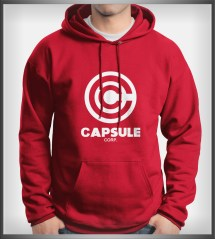 Capsule Corp #1 Bulma Dragon Ball Unisex Hoodie Red