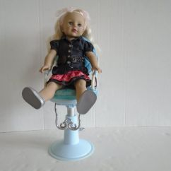 Doll Salon Chair Posture Deluxe Blue Battat Adjustable 18 Quot For American Girl