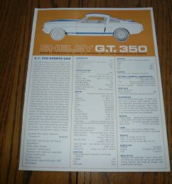 shelby ford gt 350 sales flyer brochure and 50 similar items rh bonanza com 2007 ford edge radio wiring diagram diagram of 200 [ 1600 x 1200 Pixel ]