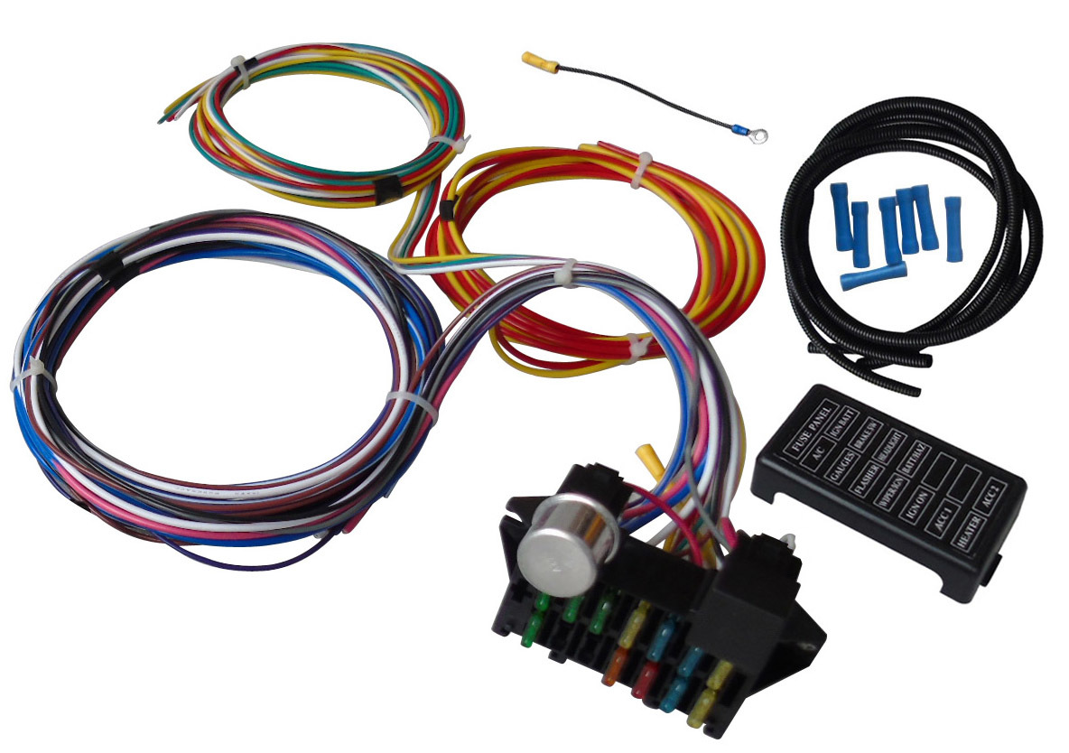 A Team Performance 12 Circuit Universal Wire Harness