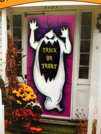 Spooky Ghost-TRICK or TREAT-DOOR COVER MURAL Halloween ...