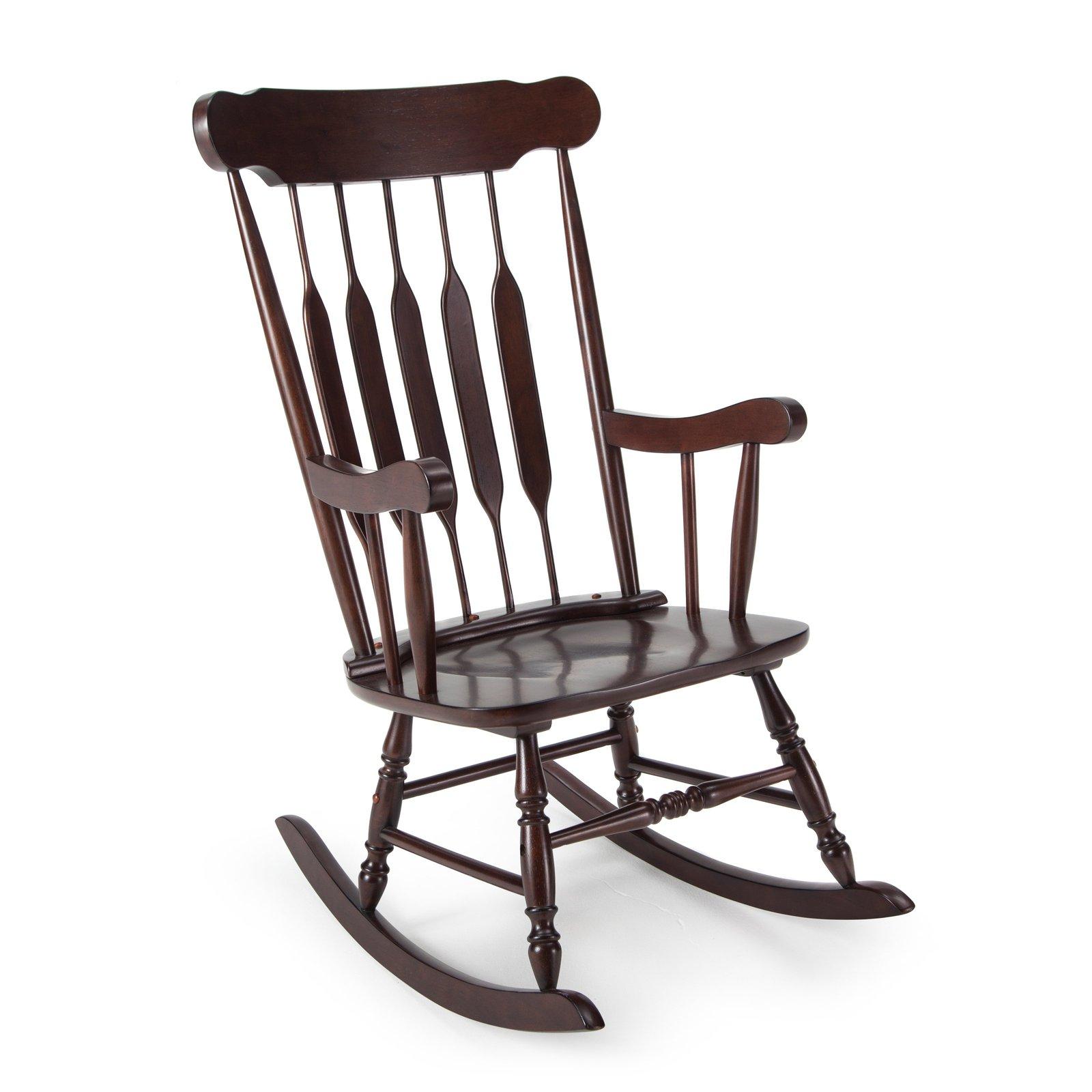 Nursery Rocking Chair Home Bedroom Brown Wood Baby Nursing