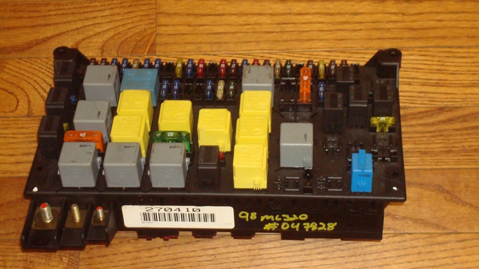 hight resolution of mercedes benz w163 ml320 ml430 oem main fuse box relay panel a1635450205 mercedes