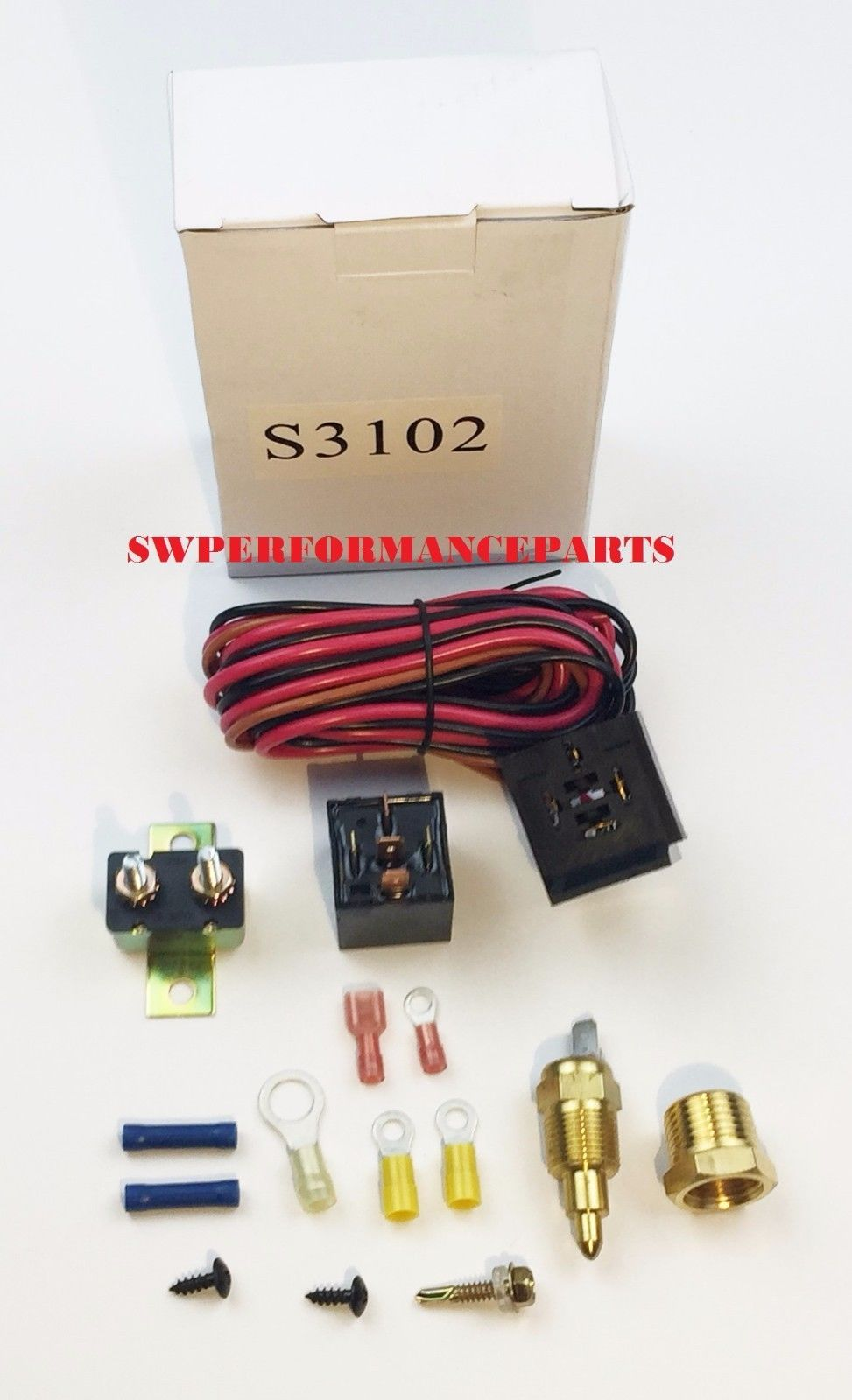 hight resolution of electric fan wire harness kit complete thermostat 30 amp relay 185