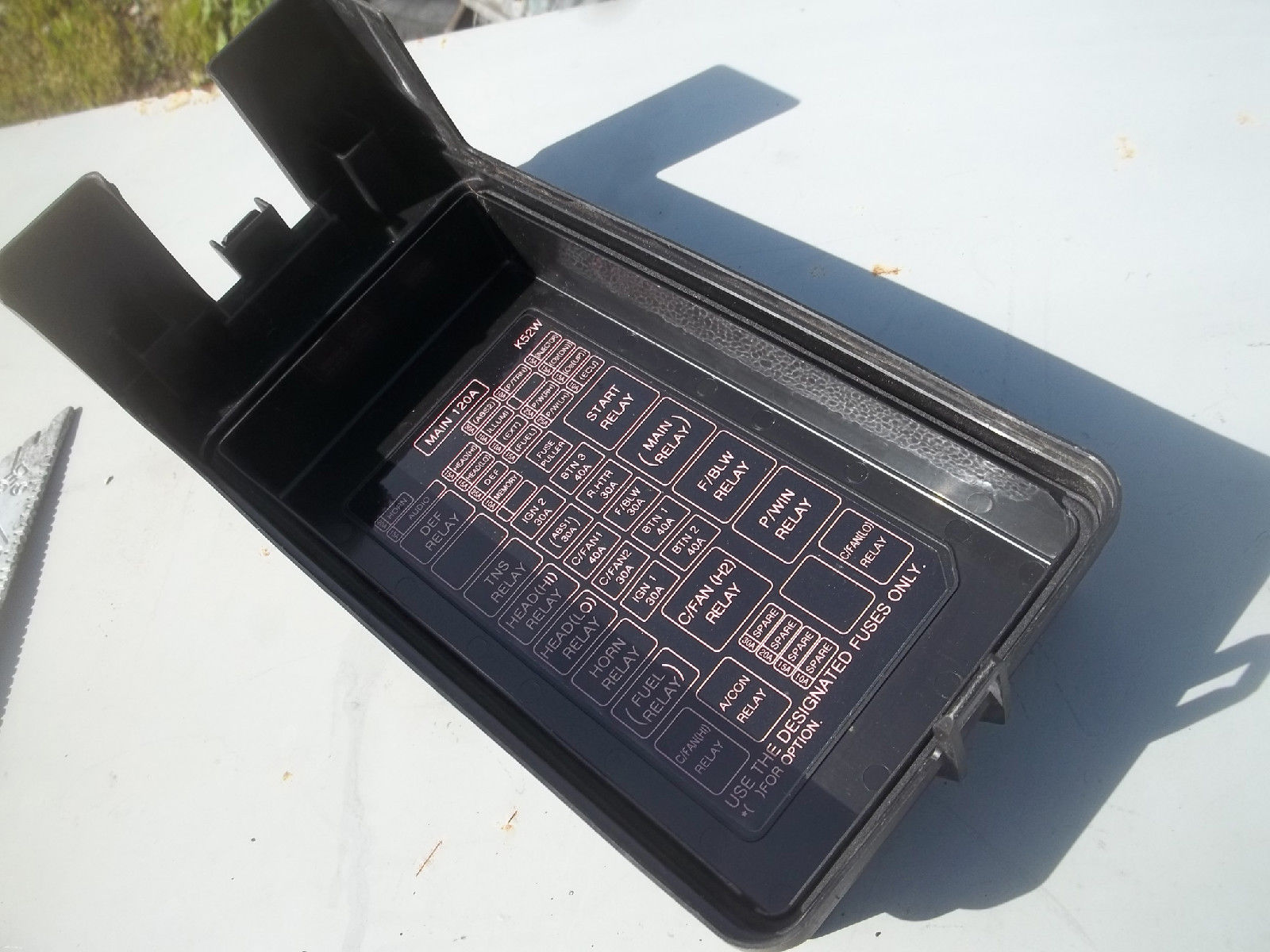 hight resolution of 2004 kia sedona fuse box cover lid relay diagram under hood