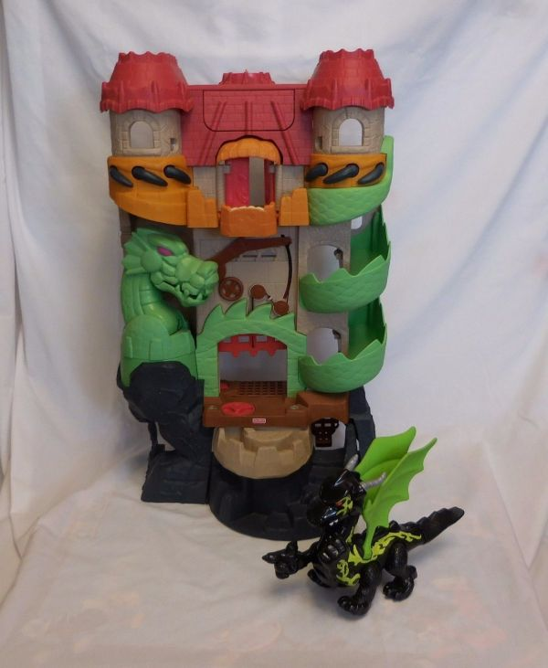 Fisher Imaginext Dragon World Castle And 42 Similar