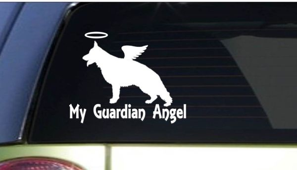 "Guardian Angel Gsd I163 6"" Sticker Decal German"