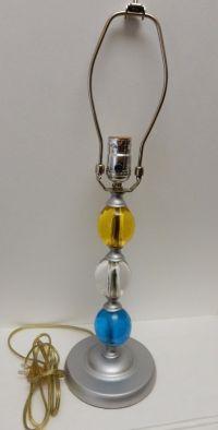 Von Pok & Chang Vintage Table Lamp Lucite Acrylic Multi ...