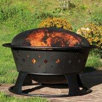 Sunnydaze 36 Inch Large Diamond Wood-Burning Fire Pit with ...