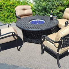 Propane Fire Pit Sets With Chairs New Table And 5pc Conversation Patio Furniture