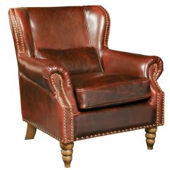 Big And Tall Recliner Chair Staples Chairs Living Room Furniture Wingback Brown Genuine Leather