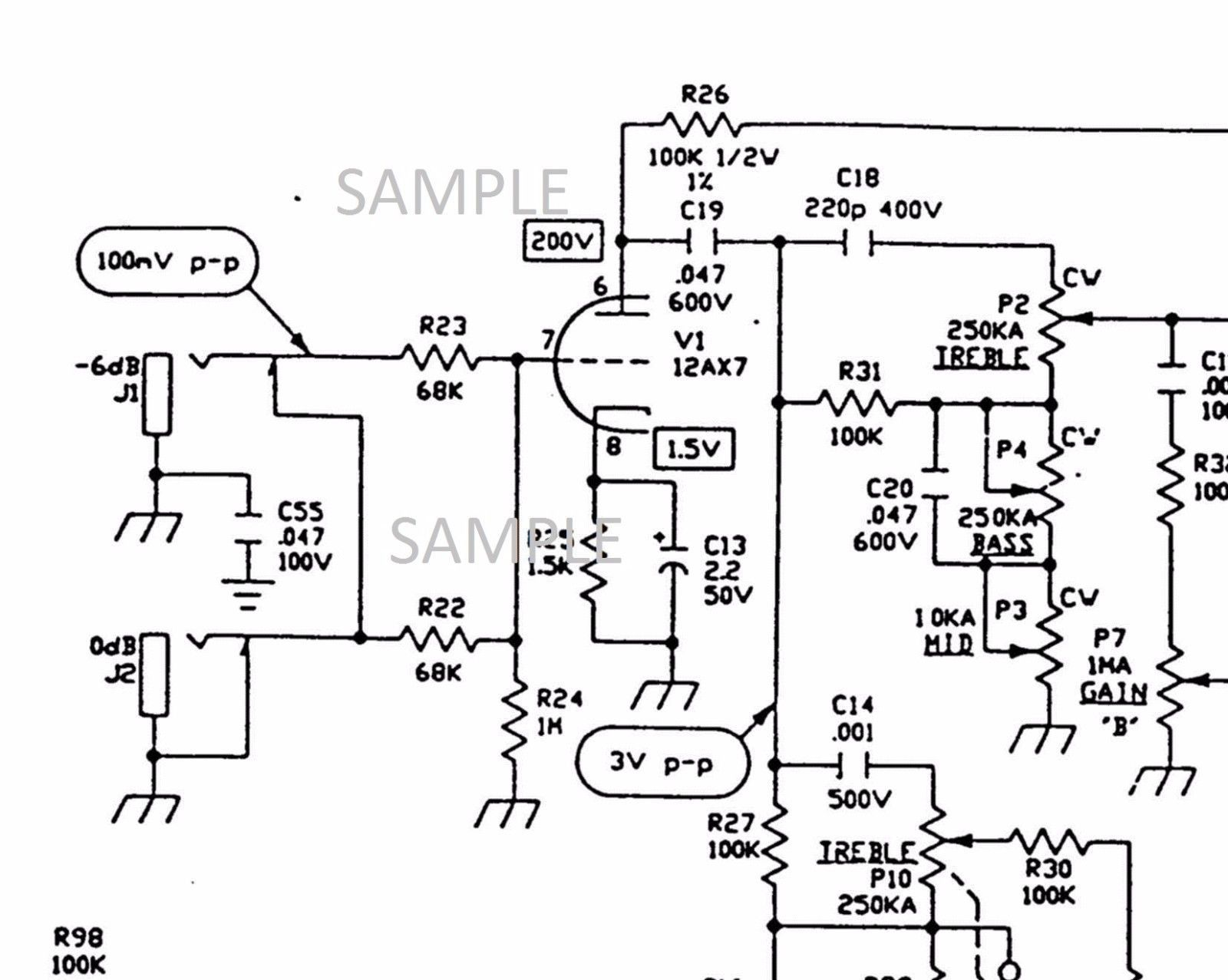 Vox Vt120 Tube Amplifier Circuit Diagram And Similar Items
