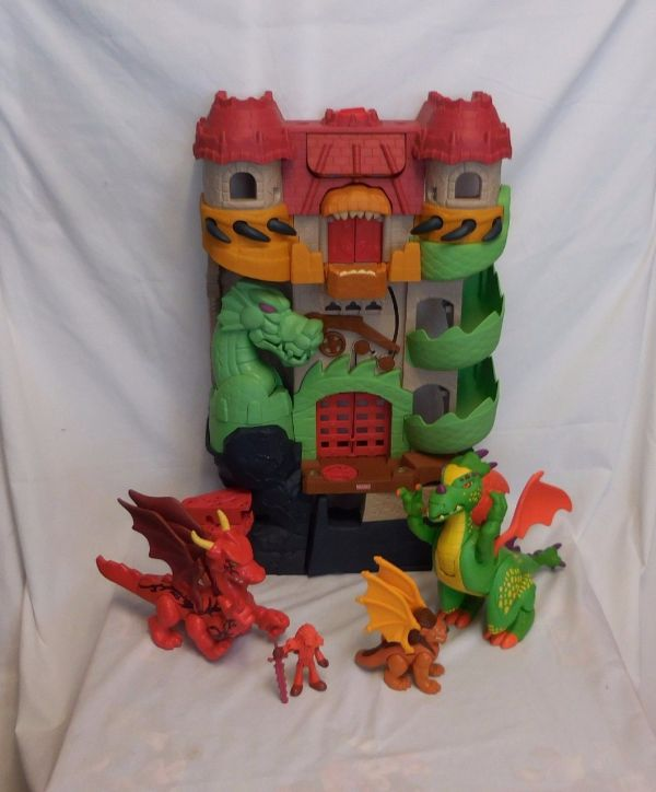 Fisher Imaginext Dragon World Castle Fortress 3