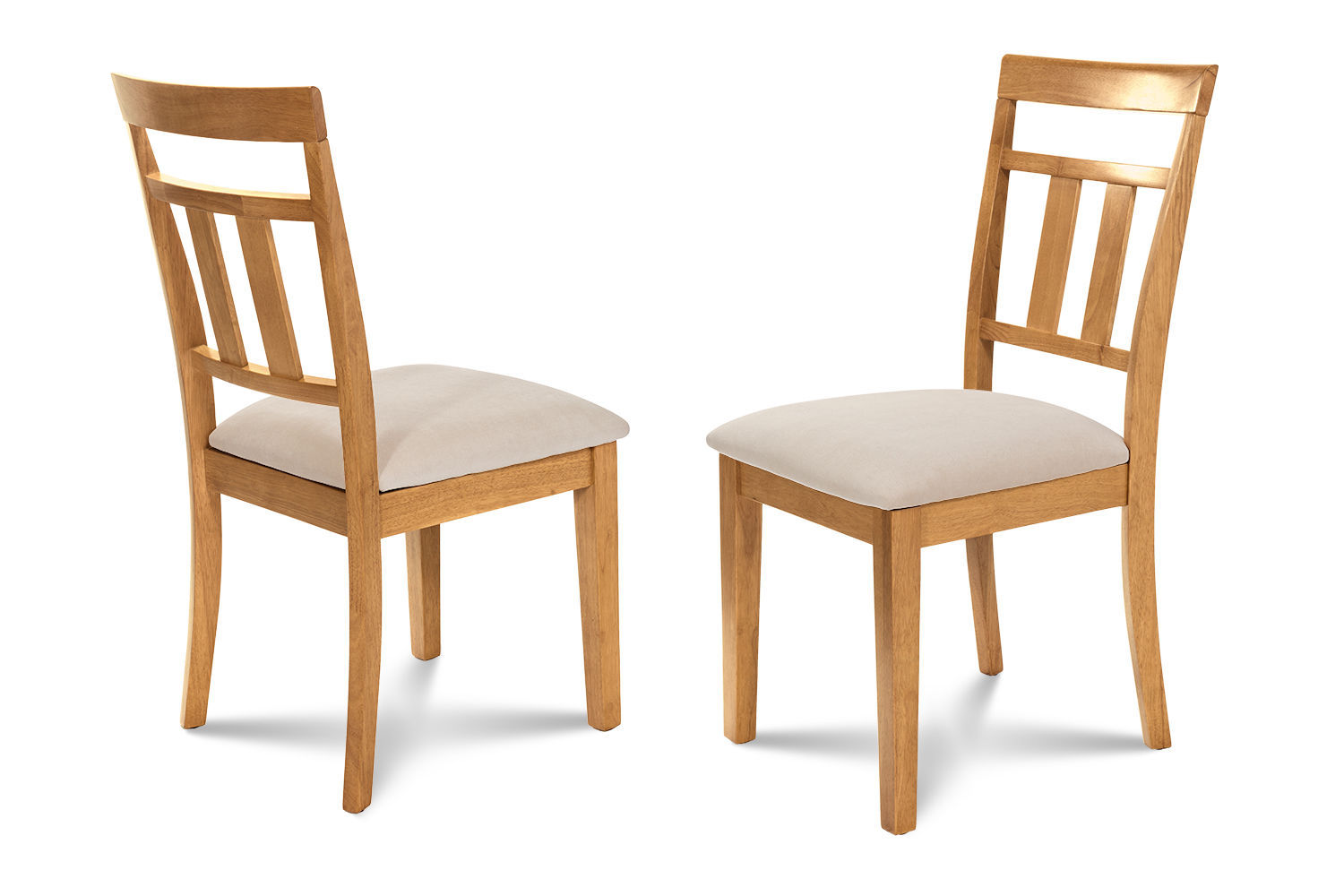 oak kitchen chairs diamond chair replica set of 2 dining side w soft padded seat in