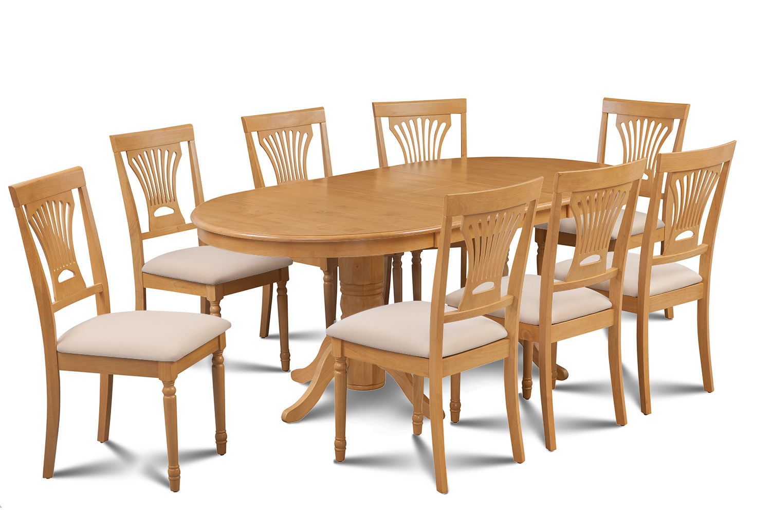 dining set with 8 chairs riser recliner for the elderly reviews 9 piece oval room table w soft padded