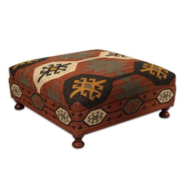Kilim Ottoman Coffee Table
