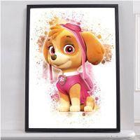 Paw Patrol Skye Poster TV Series Nursery Room Decor Wall ...
