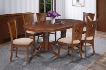 """9 Pc Oval Dinette Kitchen Dining Room Set 42""""x78"""" Table"""