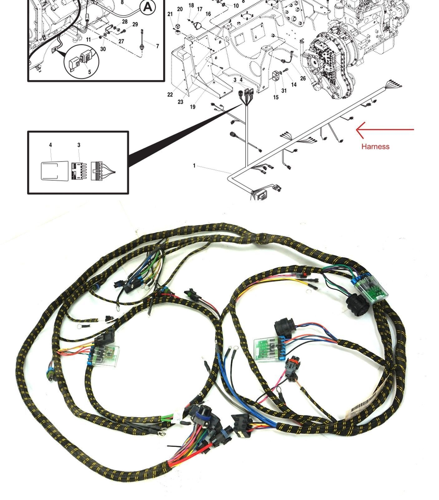 hight resolution of jlg 6000m skytrack mmv forklift wiring harness engine start system 6623304