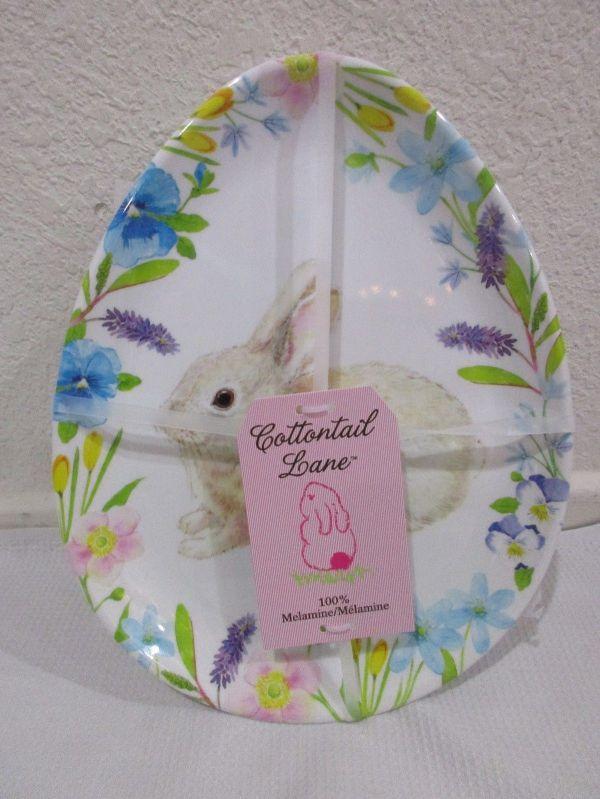Cottontail Lane Easter Bunny Rabbit Melamine Appetizer
