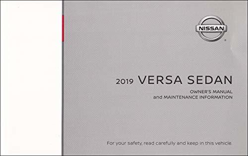 2019 Nissan Versa Sedan Owner's Manual Original [Paperback