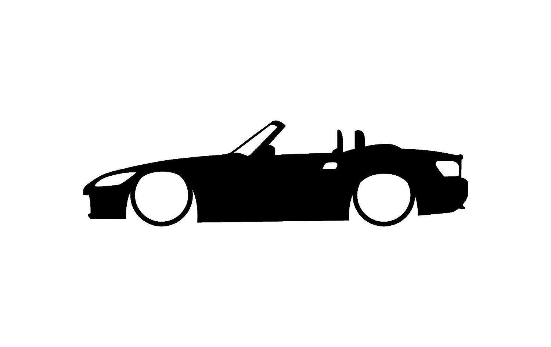 Honda S Car Body Outline Window Sticker Vinyl Decal