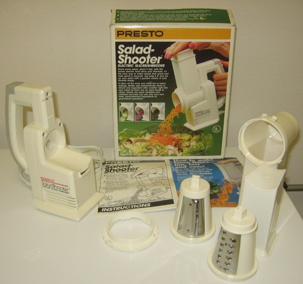 Presto Salad Shooter 02910 Electric Slicer Shredder - Food Processors