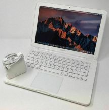"13"" White Apple Macbook 250gb Hdd 4gb Memory Osx-2017 High"