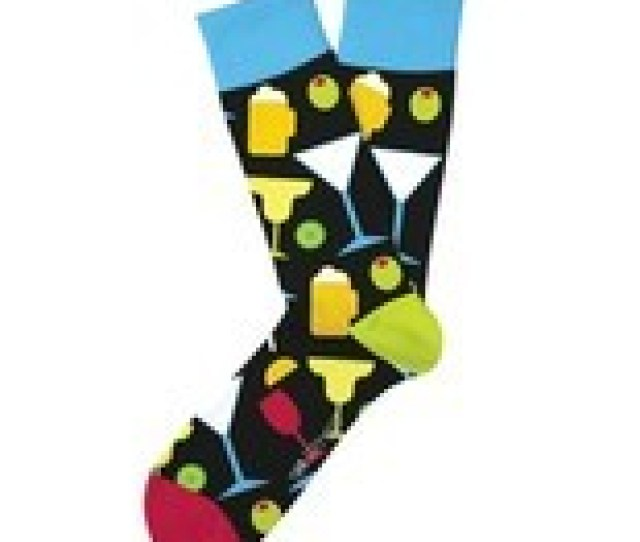 Happy Hour Fun Novelty Socks Two Left Feet Size Dress Sox Casual Beer Co
