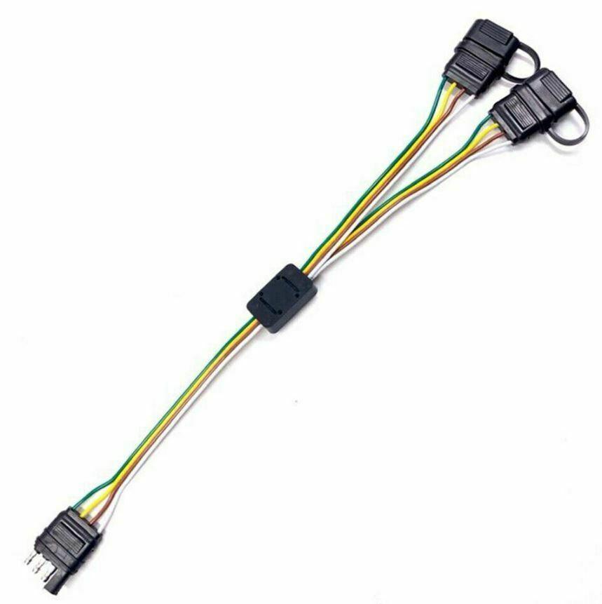 4-Way Splitter Pin Adapter Tow Flat Trailer Plug Connector