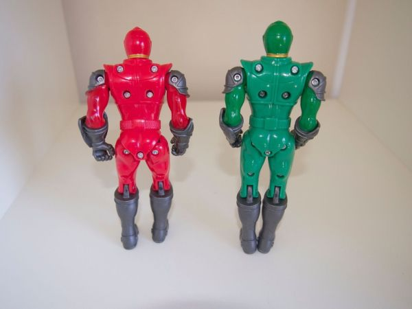 Power Rangers Mystic Force Red Green Bandai 5.5