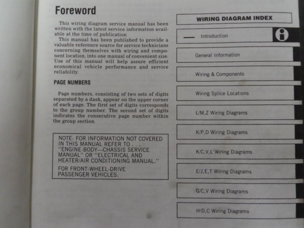 medium resolution of 1985 mopar plymouth reliant service shop repair workshop manual set oem book x