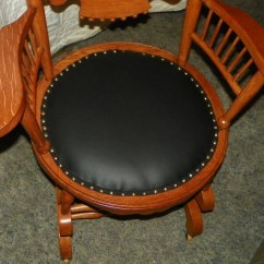 Rocking Chair Seat Replacement Stadium Seating Chairs Oak Carved Spindle Back Rocker With Black