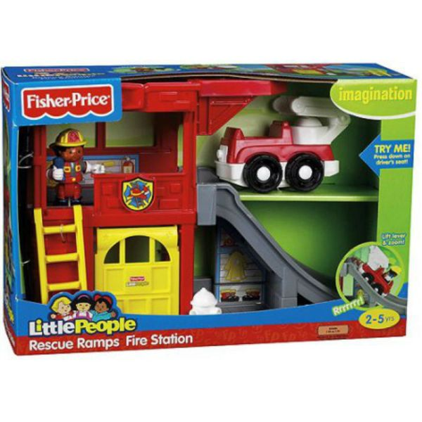 Little People Rescue Ramps Fire Station - Unopened Hard Find Playset