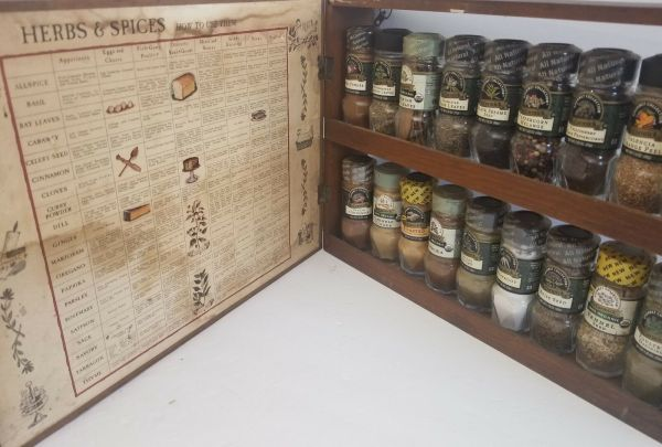 Spice Rack Vintage Three Mountaineers Herbs And Spices Chart