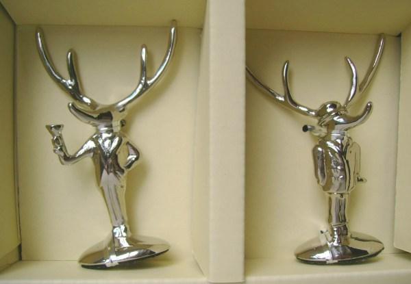 Pottery Barn Reindeer Placecard Holders Set 8 Silver Metal