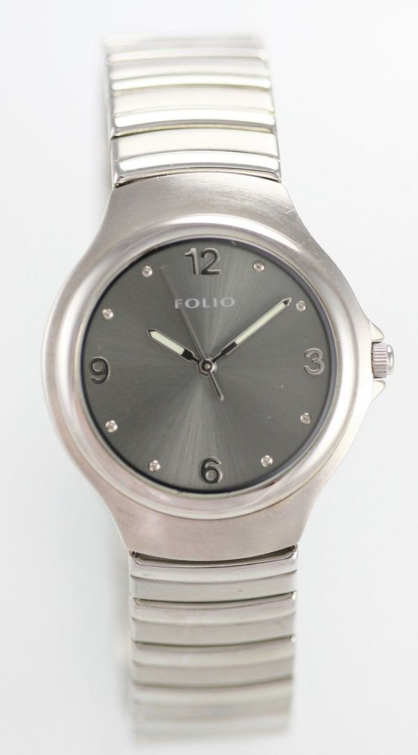 Folio Relic Watch Mens Stainless Steel Silver Water