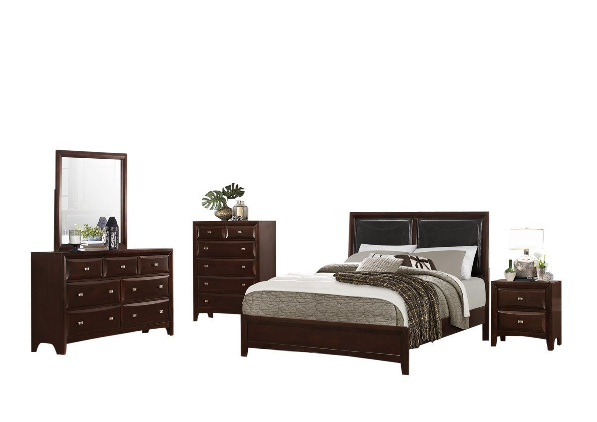Sandoval 4 Piece Eastern King Bedroom Set In Espresso