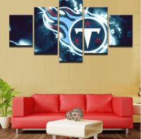 Framed 5 Piece Tennessee Titans American Football Canvas ...