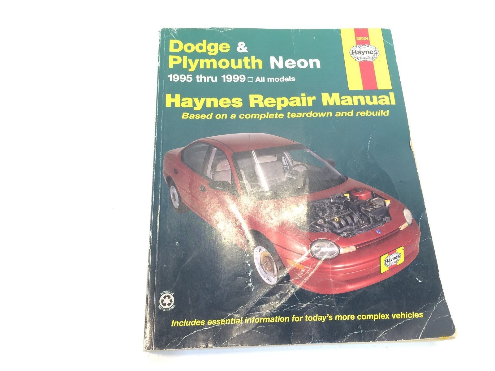 hight resolution of 1995 99 haynes dodge plymouth neon repair manual 7f6 30034 8 99
