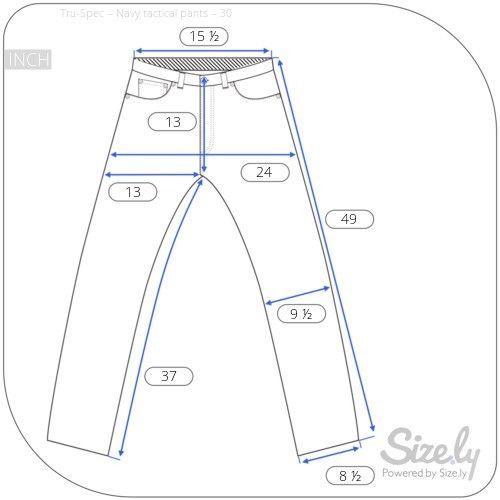 Tru Spec 24-7 Series Tactical Rip Stop Pants Mens Navy