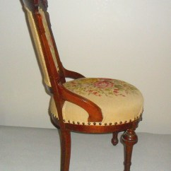 Antique Needlepoint Chair Gigatent Camping With Footrest Victorian Parlor Unknown