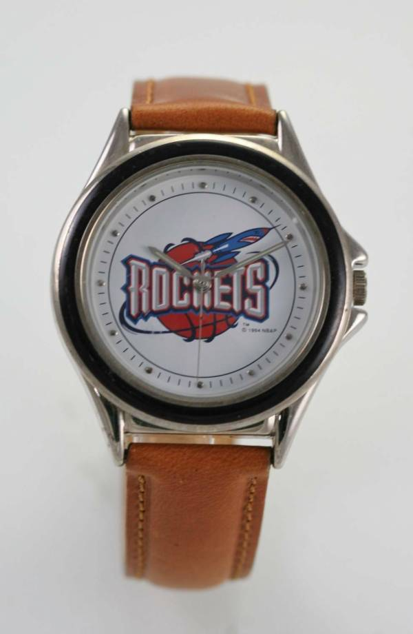 Relic Watch Mens Rockets Logo Stainless Silver Brown