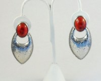 Vintage Southwest Style Clip On Earrings Faux Coral Drop ...
