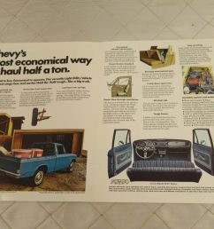 vintage 75 chevy luv pick up truck brochure specifications original chevrolet [ 1600 x 1200 Pixel ]
