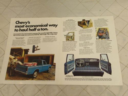 small resolution of vintage 75 chevy luv pick up truck brochure specifications original chevrolet