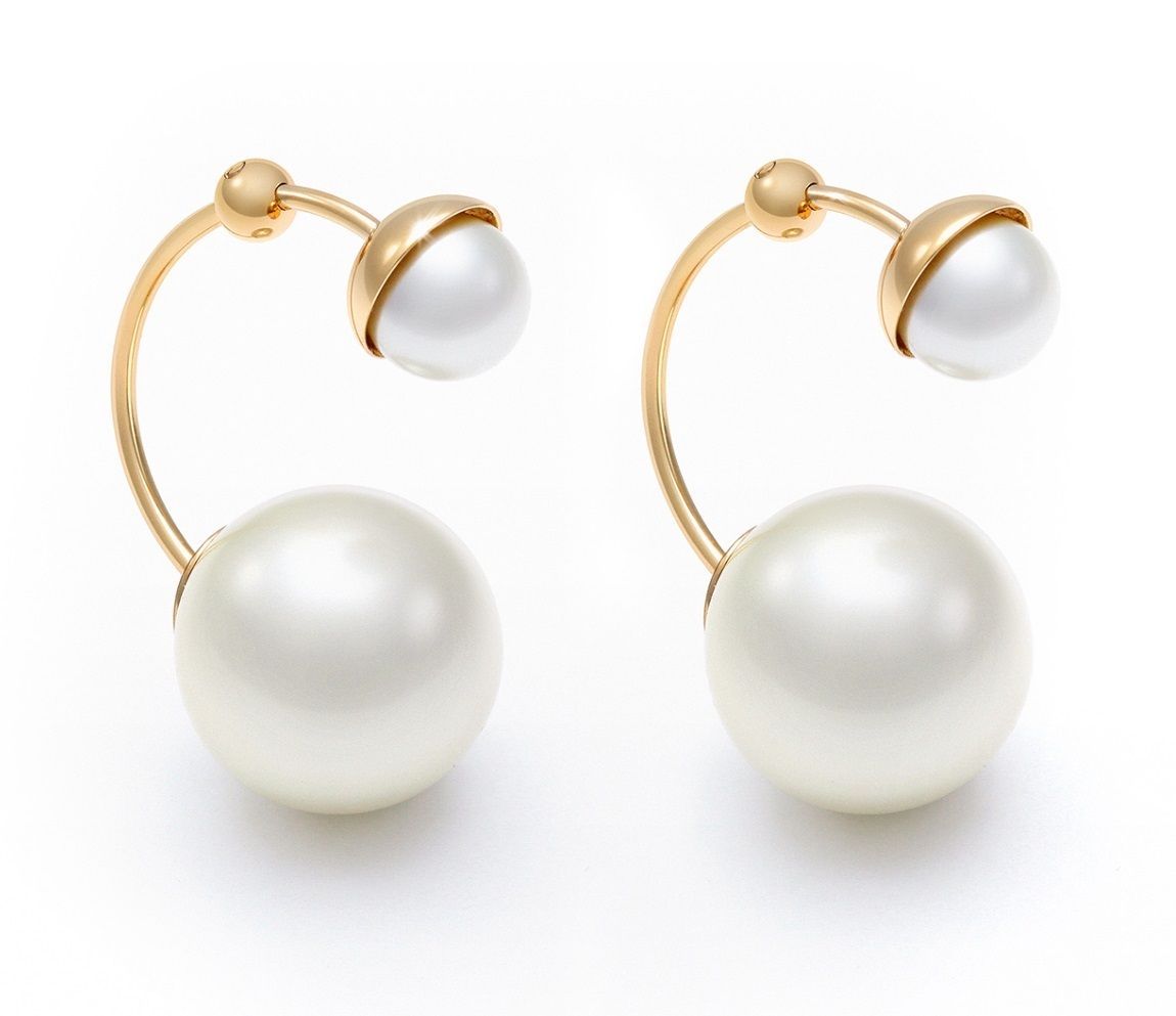 Authentic Christian Dior ULTRADIOR Double Pearl Earrings