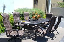 7 Piece Outdoor Dining Set Cast Aluminum Patio Furniture